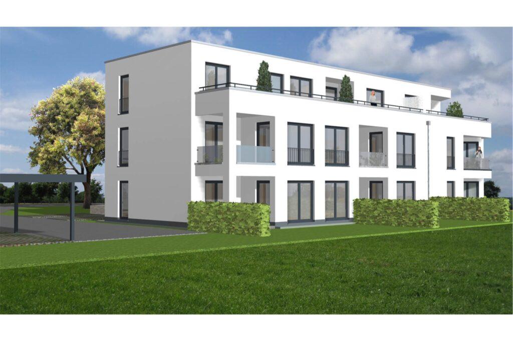 Hier eine Planungsansicht der Wohnanlage an der Schneeberger Straße.