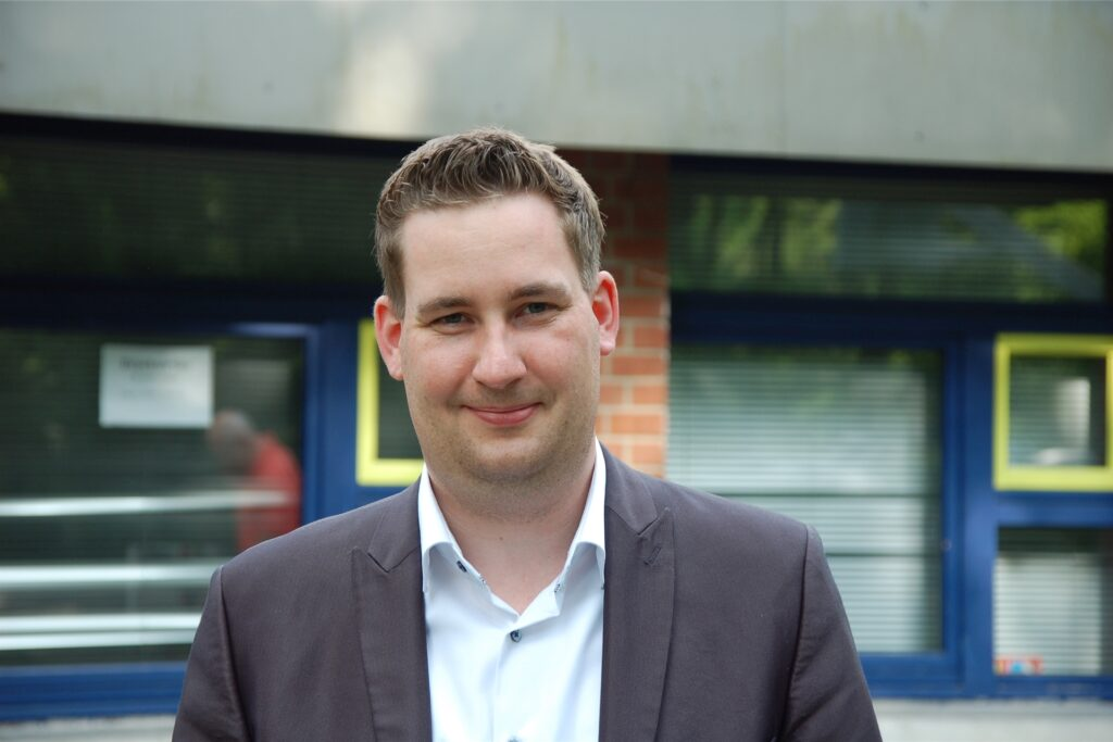 Brian Nickholz aus Marl, Kandidat der SPD