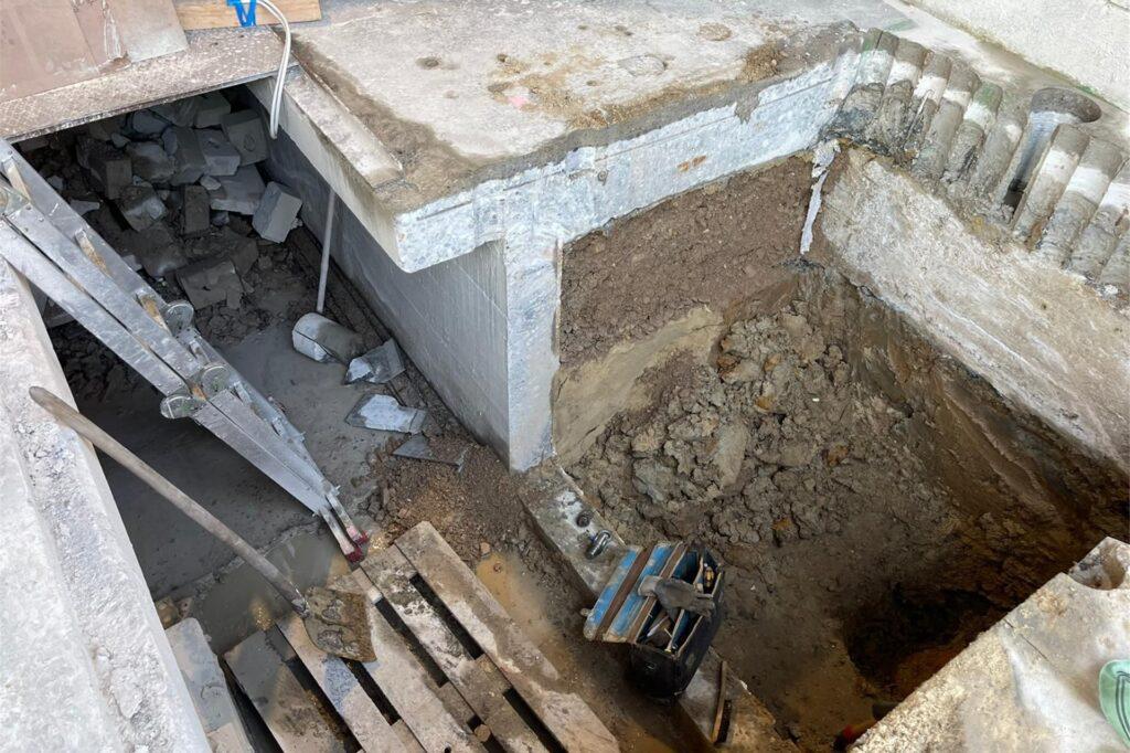 Die Bombe wurde unter einer Halle am Westring gefunden.